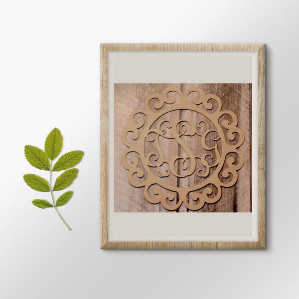 Everhope Vine Three-Letter Monogram