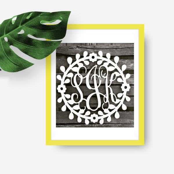 Floral Three-Letter Monogram
