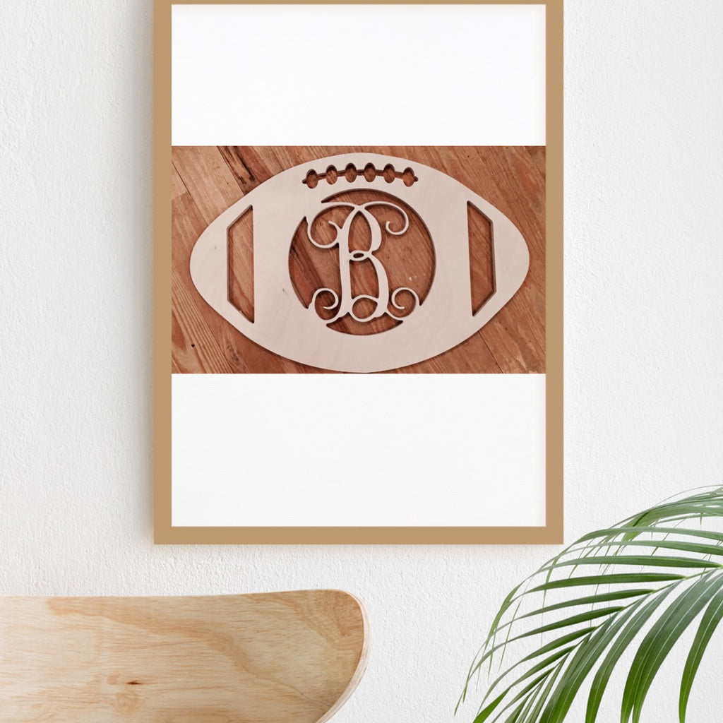 Five Dollar Deals Football Single-Letter Monogram