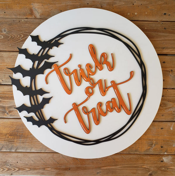 DIY Trick or Treat Sign