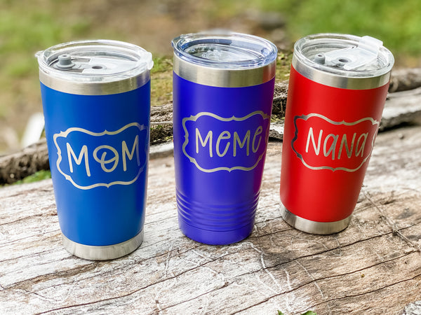 Custom Cups- Tumblers- small and large- Stemless wine glasses