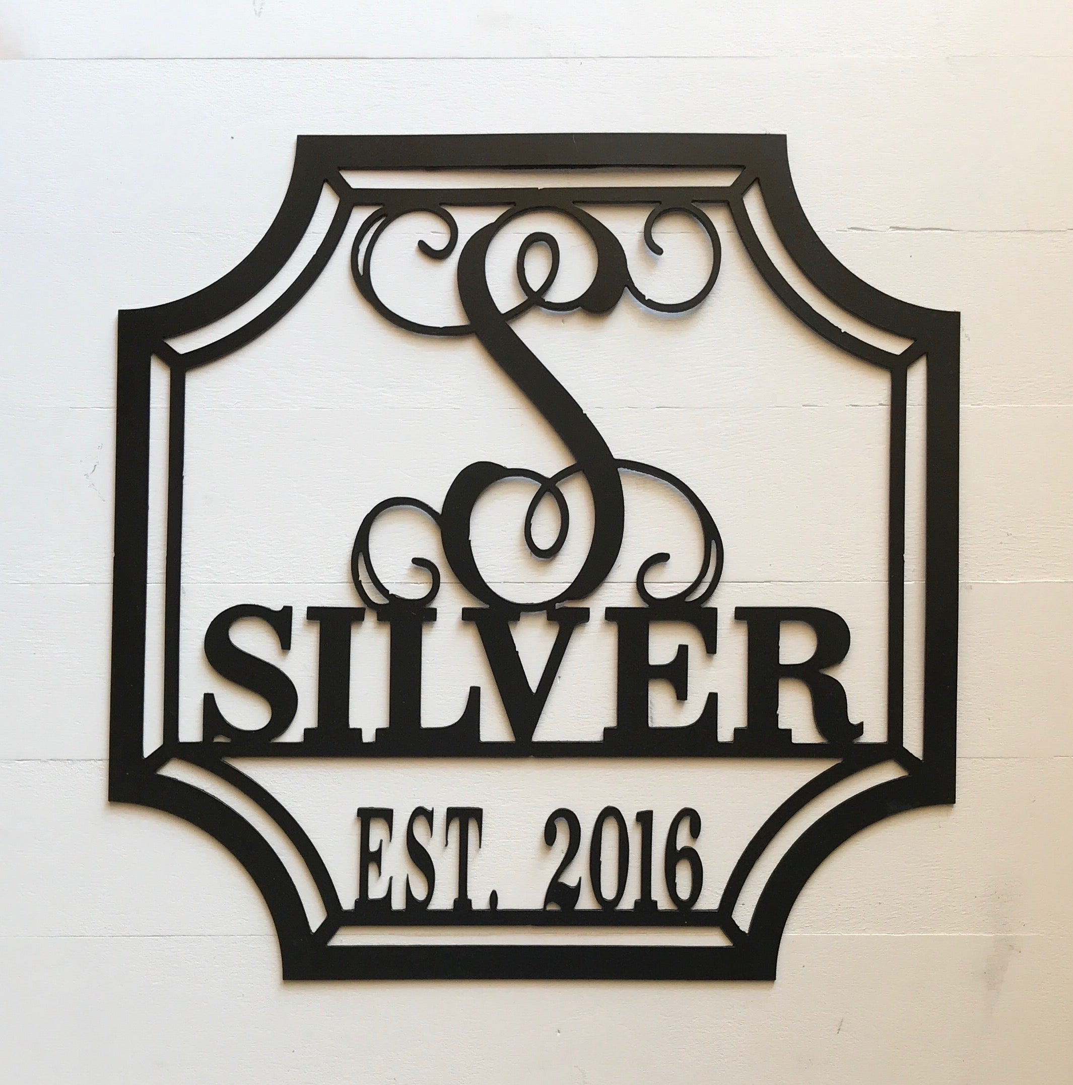 "2019 Doorbuster- 20"" Established Monogram in Metal"