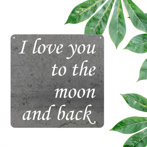 I Love You To The Moon and Back in Metal
