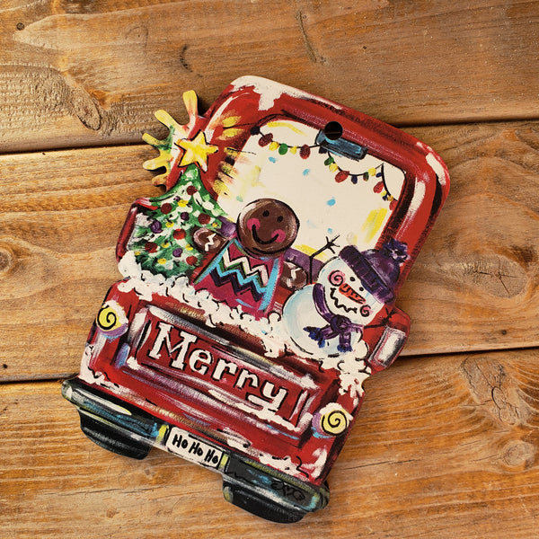 Artist Collection- Jennie Roles Walter- Ornament- Merry Truck