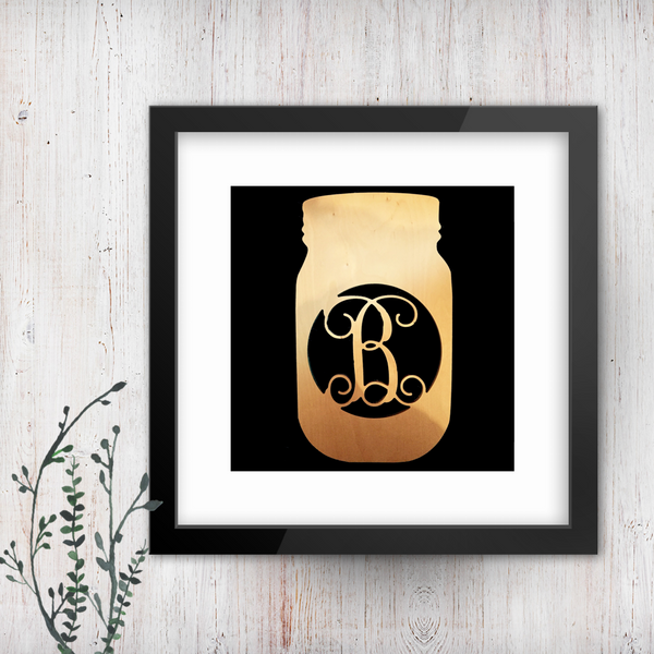 Mason Jar Single-Letter Monogram