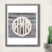 Modern Ring Circle Font Three-Letter Monogram