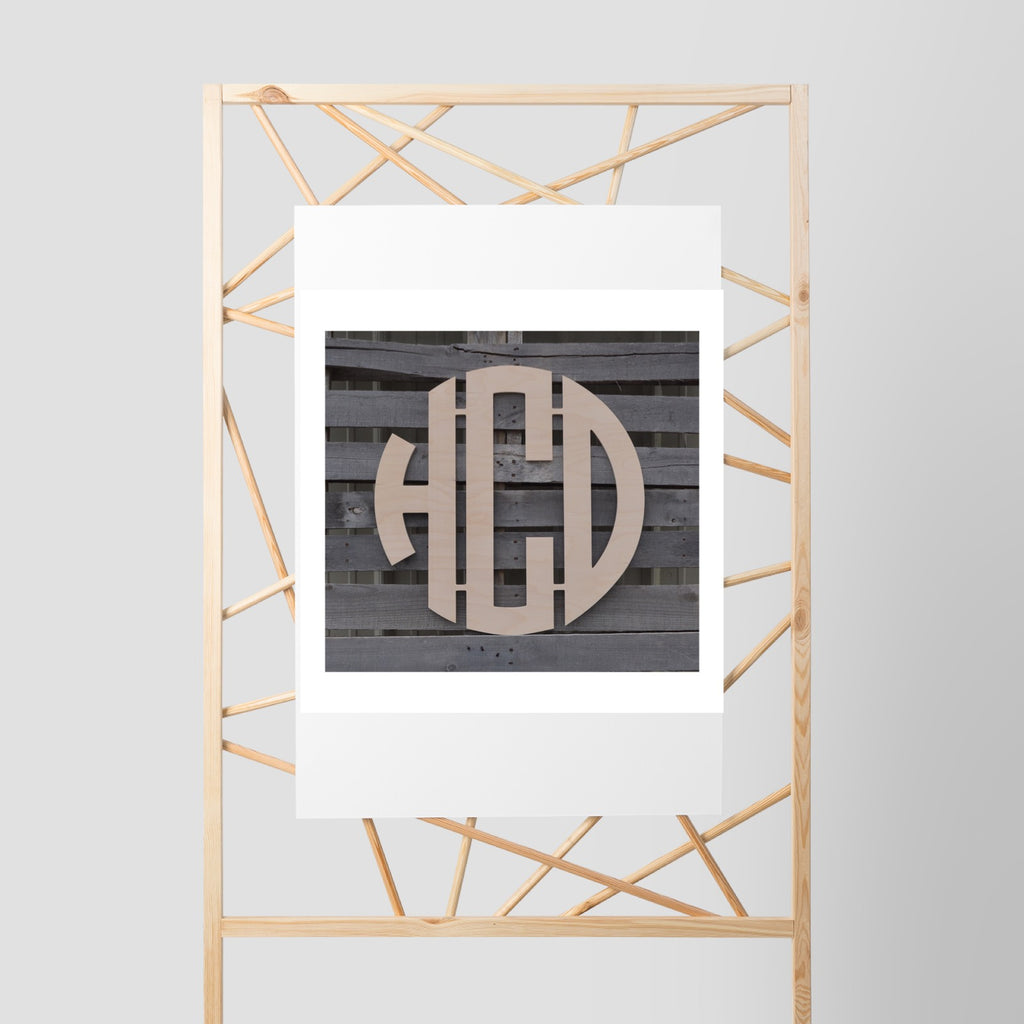 Five Dollar Deals Circle Font Three-Letter Monogram Connected