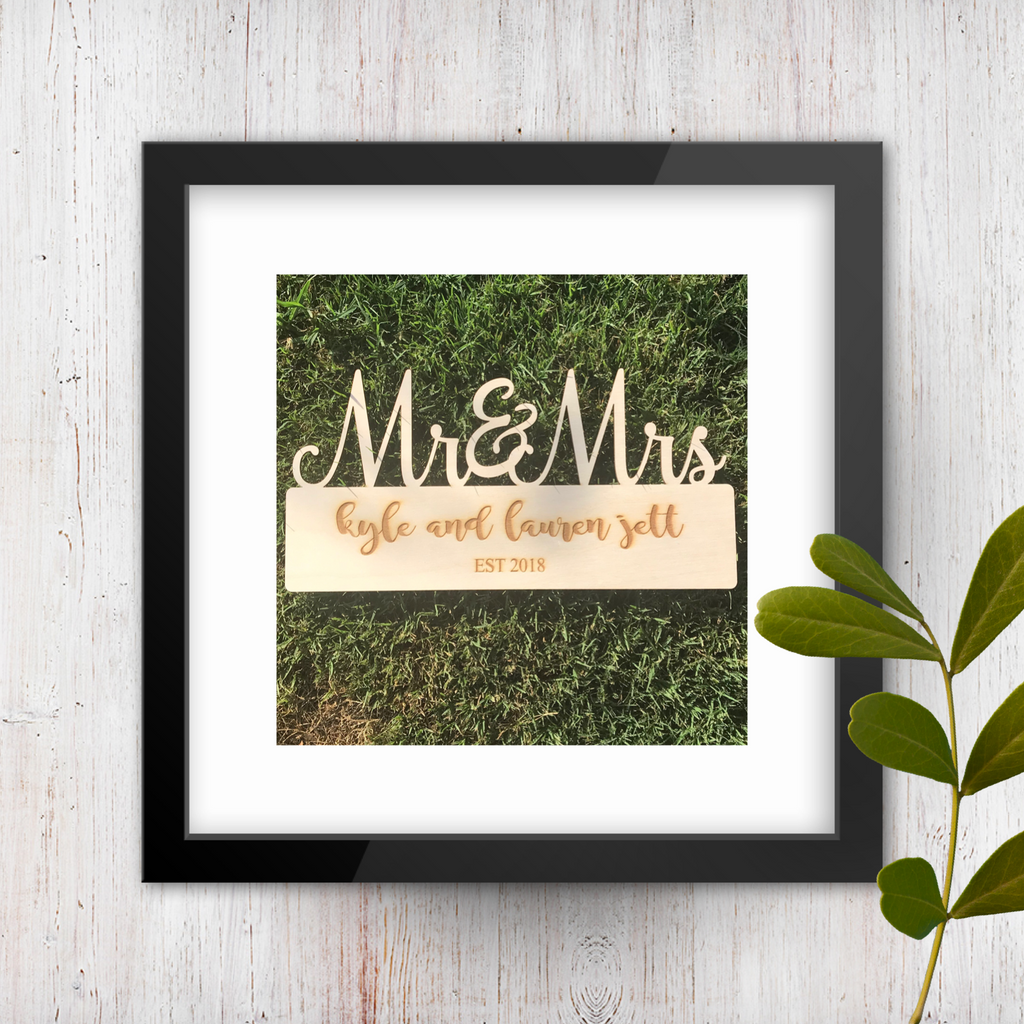 Mr. and Mrs. + Era in Wood