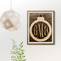 Three Letter Monogram- Ornament