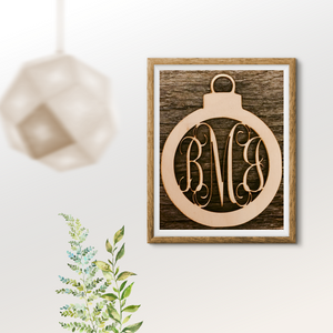 Five Dollar Deals Three Letter Monogram- Ornament