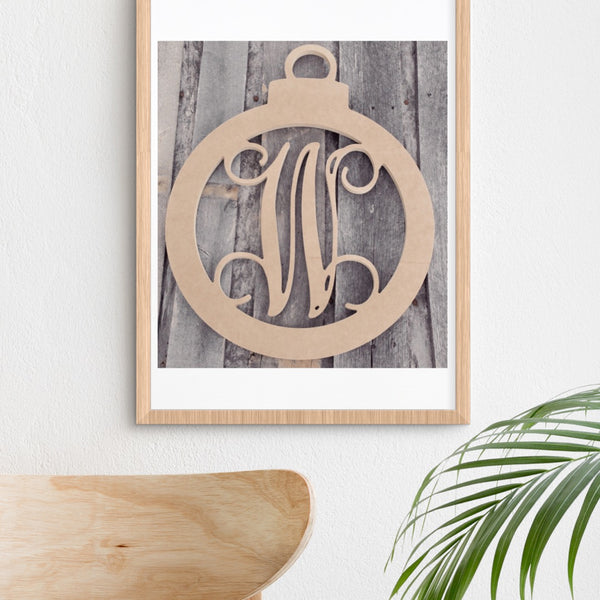 Ornament Shape Single-Letter Monogram