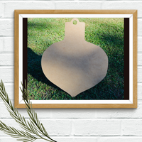 Five Dollar Deals Wood Shape-- Ornament Shape
