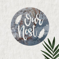 Our Nest in metal