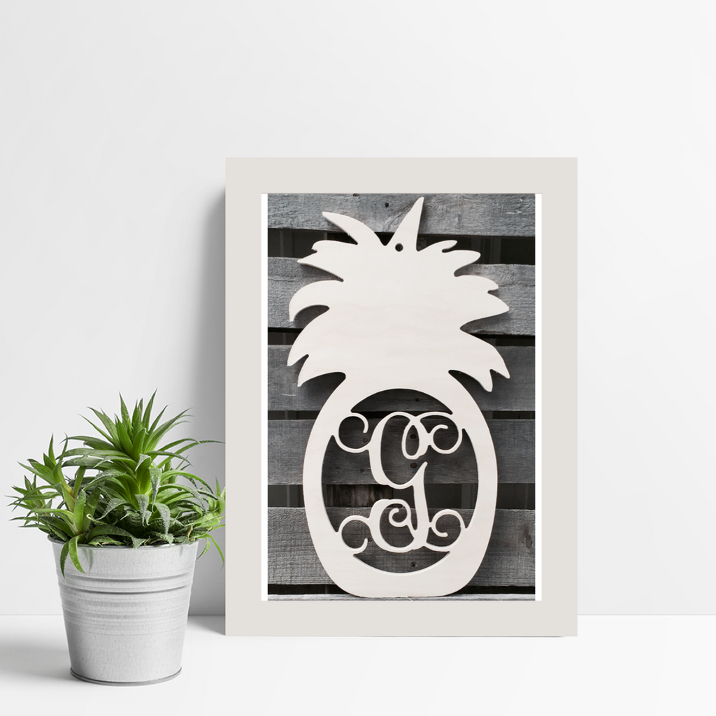 Five Dollar Deals Pineapple Single-Letter Monogram