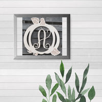 Pumpkin Single-Letter Monogram