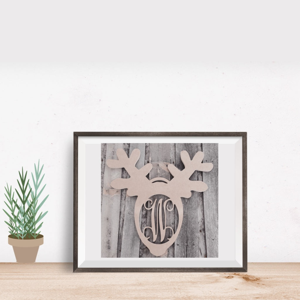 Reindeer Single-Letter Monogram