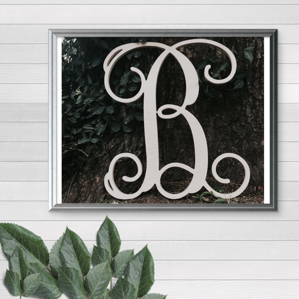 Single Vine Letter Monogram