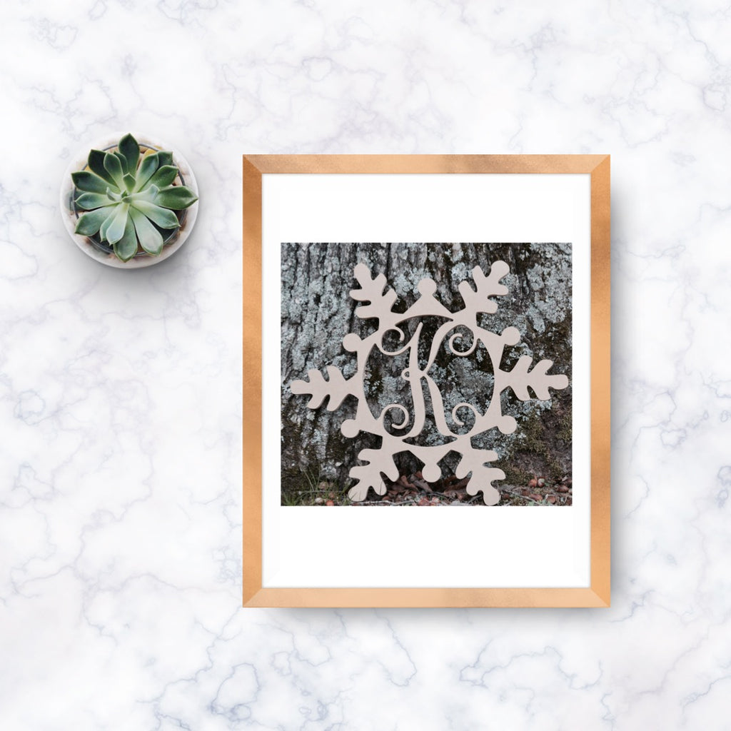 Snowflake Single-Letter Monogram