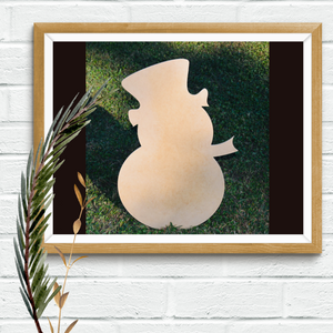 Five Dollar Deals Wood Shape- Snowman