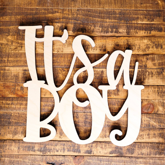 It's a Boy - Unfinished Wood Words -- 5.99 !!!!