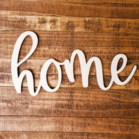 Wooden Home - Unfinished Wood Words
