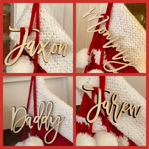 2019 Doorbuster- Stocking Tags / Place card / ornament