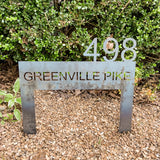 Modern Address Sign.