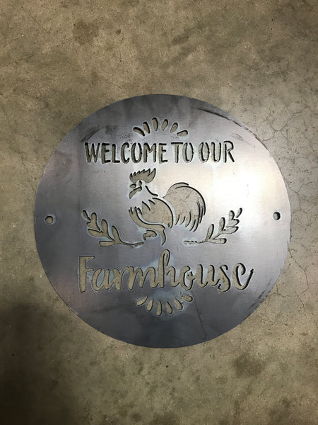Welcome to Our Farmhouse in Metal