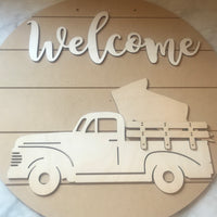 DIY Welcome Vintage Truck Seasons