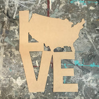 Wood Shape- Love with America