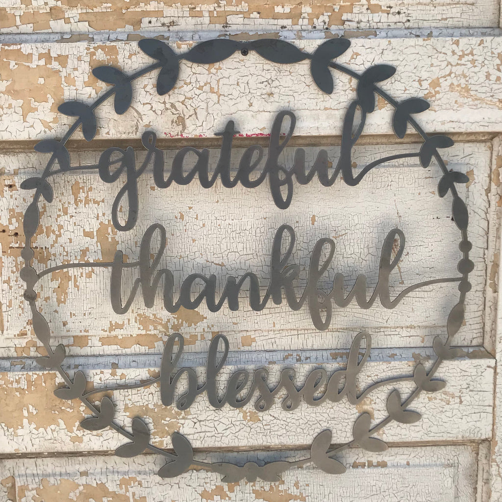 Grateful, Thankful, Blessed Wreath