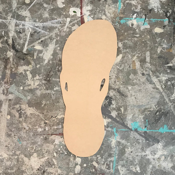 Wood Shape- Flip Flop Single