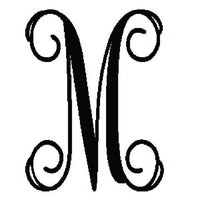 "12"" Single Vine Letter Monogram- Five Dollar Deal"