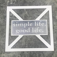 Barn Door Collection - Metal simple life, good life