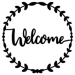 Welcome Metal Wreath