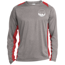 Load image into Gallery viewer, ST361LS Sport-Tek LS Heather Colorblock Poly T-Shirt