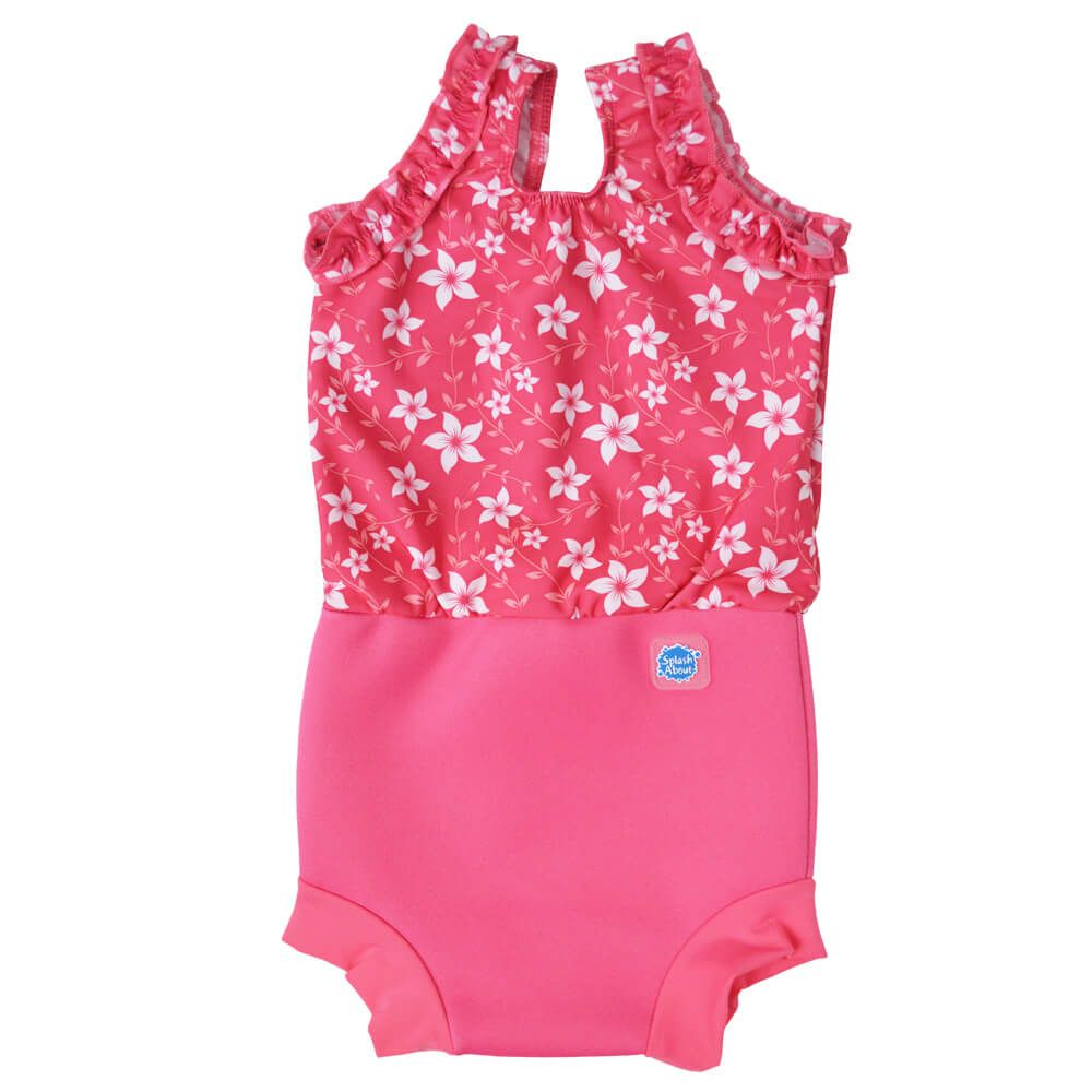 Traje Baño Happy Nappy Costume Pink Blossom Pattern Splash About