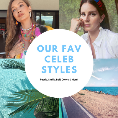 Our Fav Celeb Styles ~ Pearls, Shells, Color & More!