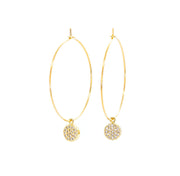 Salty cali- 360 hoop earring gold