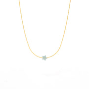 Amazonite_Star_Gold necklace