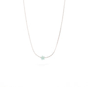 Amazonite_Star_silver necklace