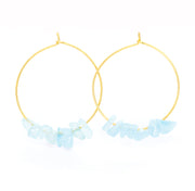 Rock Candy ~ Aquamarine Hoops