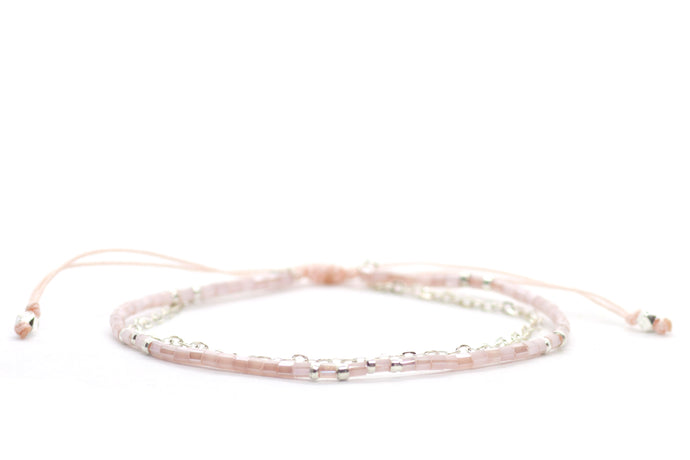 Bead & Chain - Light Pink