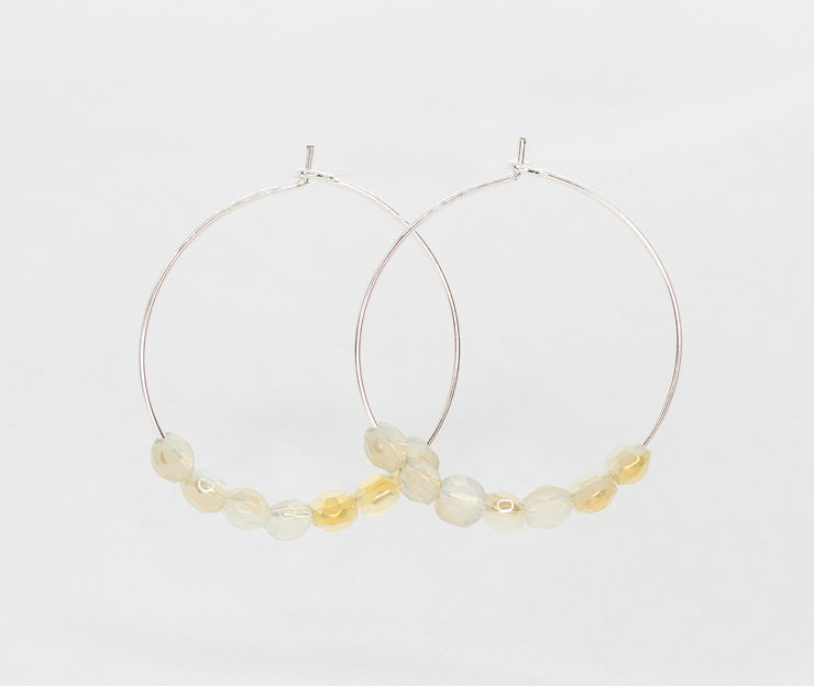 Glimmer Cloud Hoops