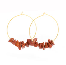 Load image into Gallery viewer, Rock Candy ~ Coral Hoops