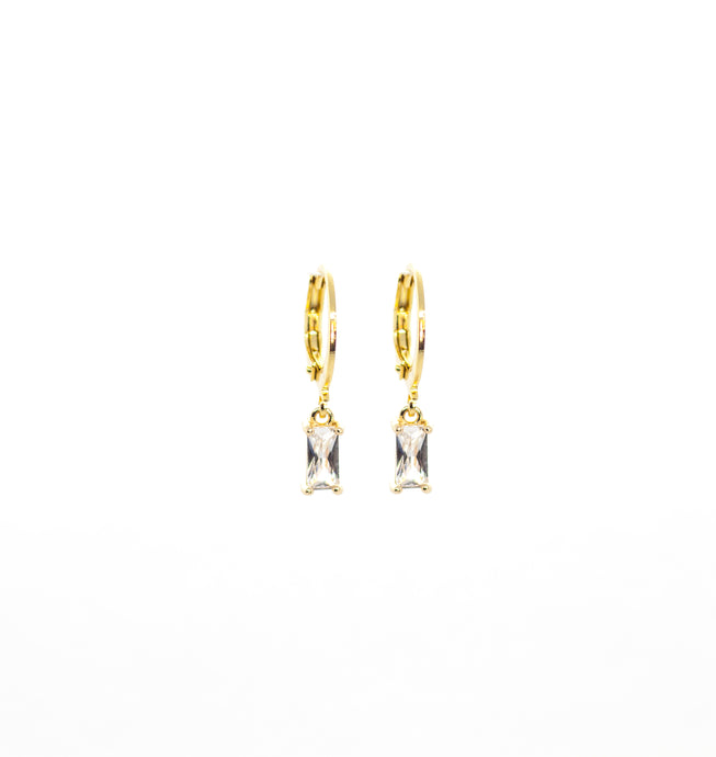 Deco White Hoops Gold