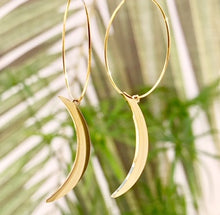 Load image into Gallery viewer, Crescent Moon Hoops ~ Salty Pendants