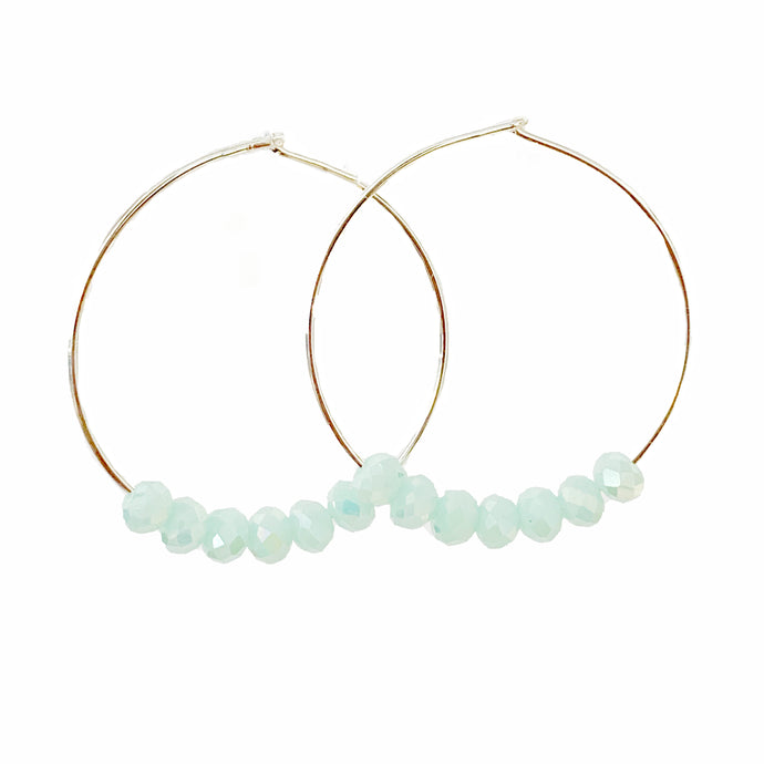 Glimmer Baby Blue Hoops