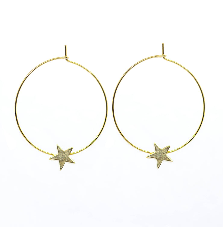 Solid Star Hoops ~ Salty Pendants