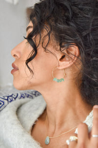 Rock Candy ~ Green Jade Hoops